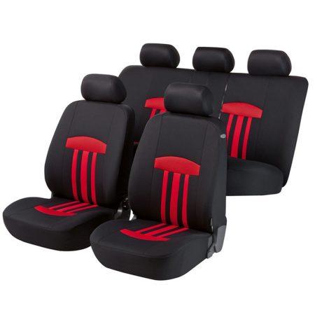 Üléshuzat garnitúra, WALSER Kent, piros-fekete, TÜV