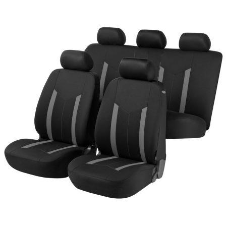 Üléshuzat garnitúra, WALSER Hastings, szürke-fekete, TÜV