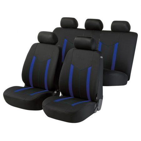 Üléshuzat garnitúra, WALSER Hastings, kék-fekete, TÜV