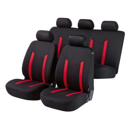 Üléshuzat garnitúra, WALSER Hastings, piros-fekete, TÜV