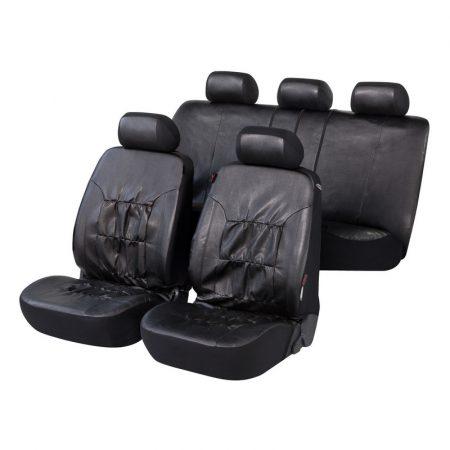Üléshuzat garnitúra, WALSER Nappa Touch, fekete, TÜV