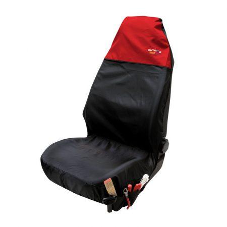Ülésvédő WALSER OS fekete-piros