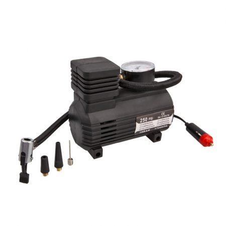 Kompresszor 12V, 250 PSI, 18 BAR