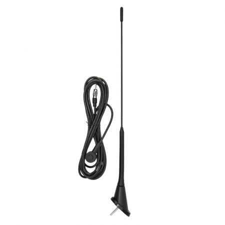 Antenna 40 cm, 5 mm, 3 m kábel, DIN (VW Golf) fix
