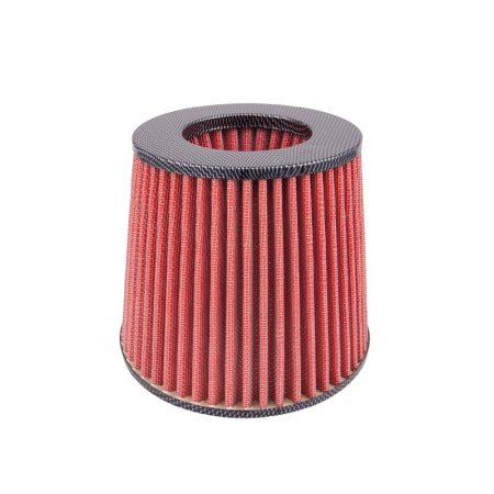 Direkt levegőszűrő 3 db adapterrel, piros-karbon