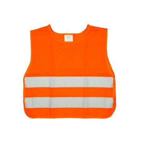 Fényvisszaverő mellény, gyerek méret, narancssárga EN471