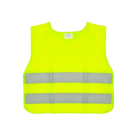 Fényvisszaverő mellény, gyerek méret, sárga EN471