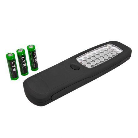 24 LED lámpa, mágneses, akasztható, elemekkel