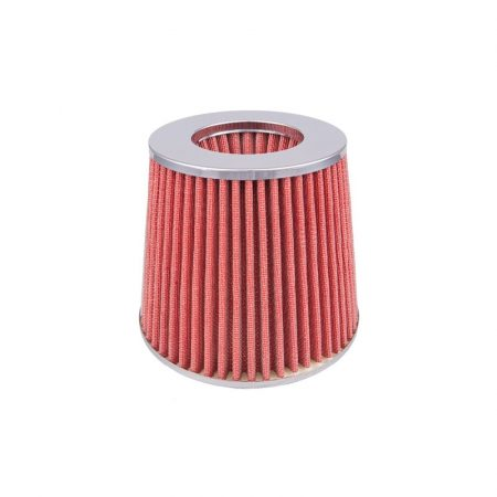 Direkt levegőszűrő 3 db adapterrel, piros-króm