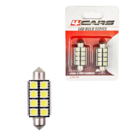 Izzó 8LED 12V FESTOON CANBUS 5050SMD T11x42mm