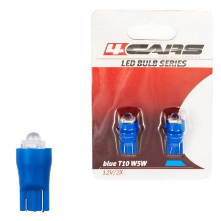 Izzó 1LED12V T10 kék, 2 db