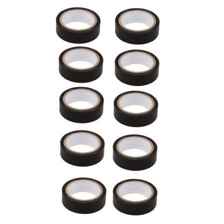 Szigetelőszalag, fekete, 10 m x 15 mm, 10 db-os csomag
