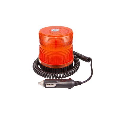 Villogó figyelmeztető jelzőfény 12V, E-jel,mágneses,stroboszkópos
