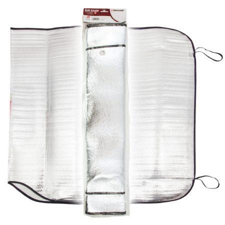 Napfényvédő, alu, 145x70 cm