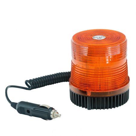 Villogó figyelmeztető jelzőfény 24V, E-jel,mágneses,stroboszkópos