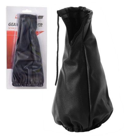 Sebességváltó zsák, műbőr, fekete