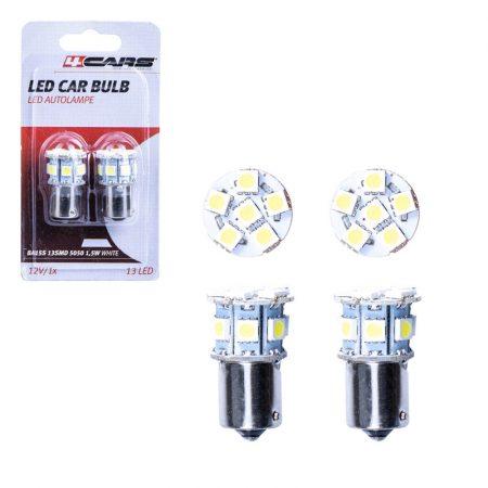 Izzó 13 SMD LED 5050 12V BA15S 1,5W, 2 db
