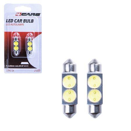 Izzó 2 SMD LED 12V 2x0,5W T11x36 mm, 2 db - 96856