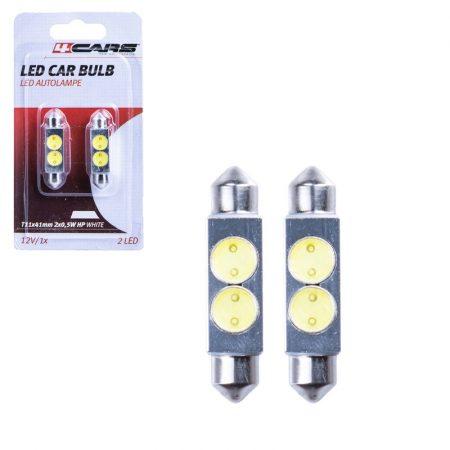 Izzó 2 SMD LED 12V 2x0,5W T11x41 mm, 2 db - 96863