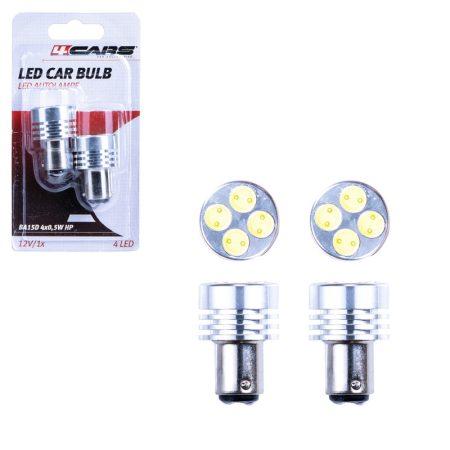 Izzó 4 SMD LED 12V 4x0,5W BA15D, 2 db - 96870