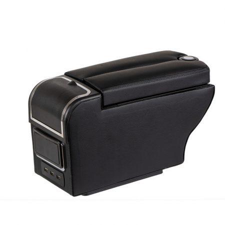 Könyöklő box 6 USB port, 15 cm széles, fekete