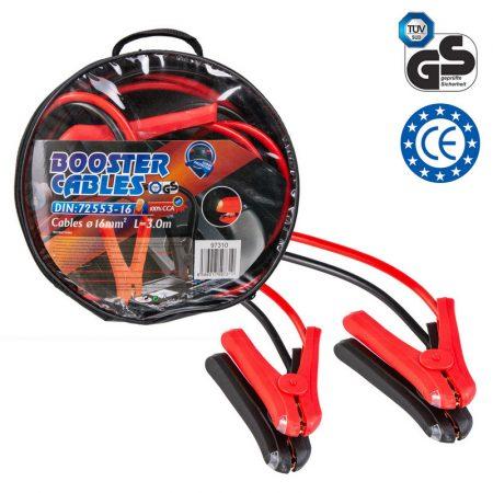 Indítókábel 16 mm2, 3 m, DIN 72553, LED, kapcsoló, túlfeszültség-védelem