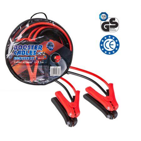 Indítókábel 25 mm2, 3,5 m, DIN 72553, LED, kapcsoló, túlfeszültség-védelem