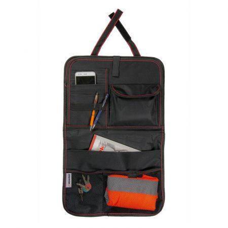 Tároló táska háttámlára, tálcával 60x38 cm